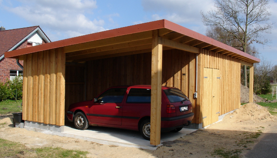 Carport Garage Kombination Holz referenzen zimmermann ristau de